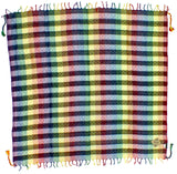 Saadi rainbow keffiyeh by Tahrir Scarf (full spread)
