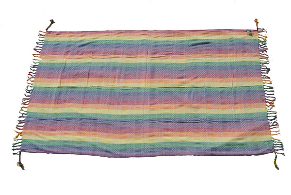 Hapi bright rainbow sarong by Tahrir Scarf