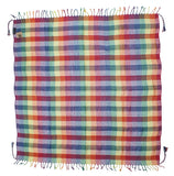 Victoria rainbow keffiyeh by Tahrir Scarf in red, white and blue (full spread)