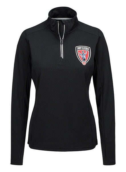 Women's Black Quarter Zip