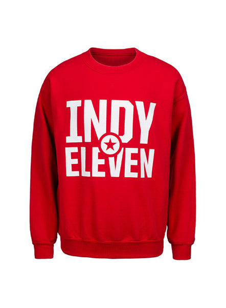 Red Youth Crew Neck Sweatshirt