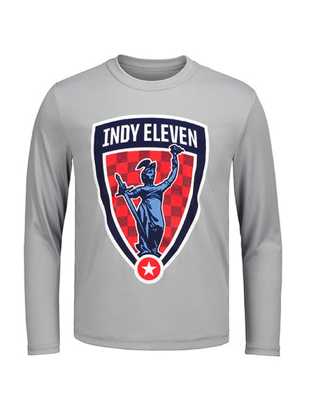 Youth Grey Dri Fit Long Sleeve