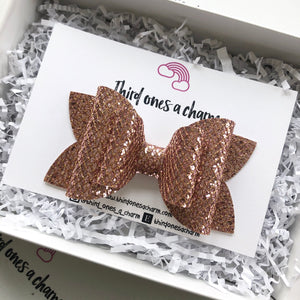Rose Gold Rhombus Bow