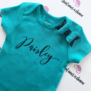 Custom Name Onesie