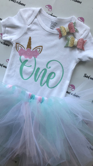 Custom Onesie & Tutu with Matching Bow Sets