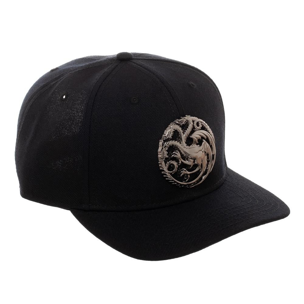 589ae1ac6a8ba House Targaryen Metal Detail Snapback from Game of Thrones – HBO Shop