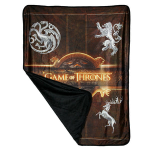 Altnernate image of House Fleece Throw from Game of Thrones
