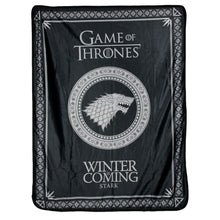 Image of House Targaryen and House Stark Sigil Fleece Throw from Game of Thrones