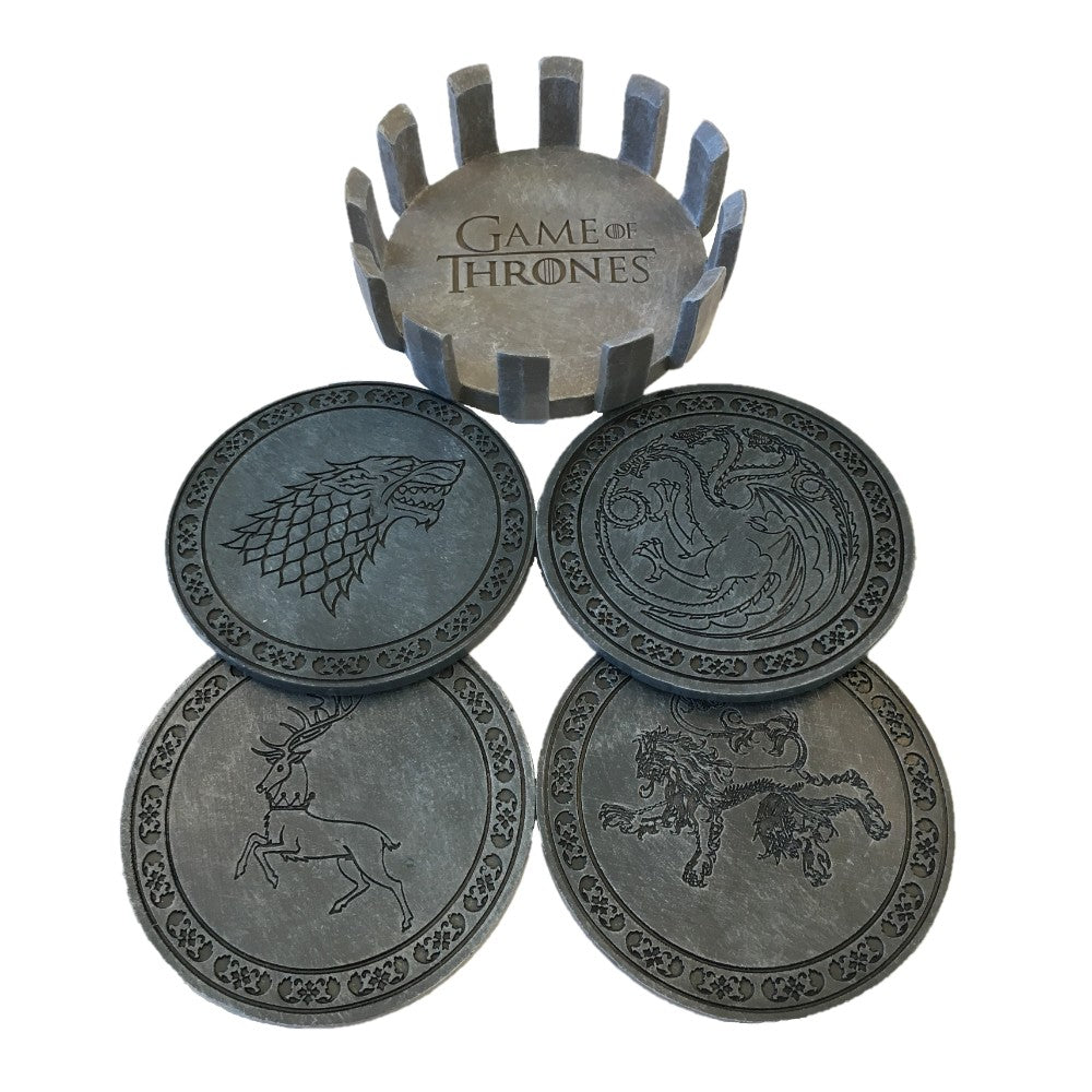 Alternat image of Faux Stone Coaster Set from Game of Thrones