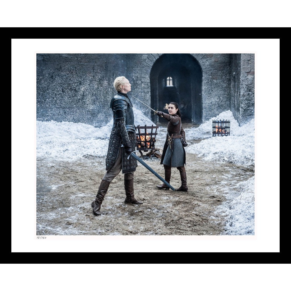 Brienne and Arya Framed Print from Game of Thrones