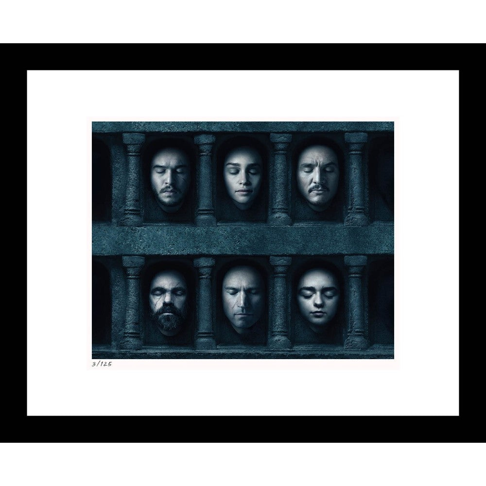 "Hall of Faces 16"" x 20"" Framed Print from Game of Thrones"