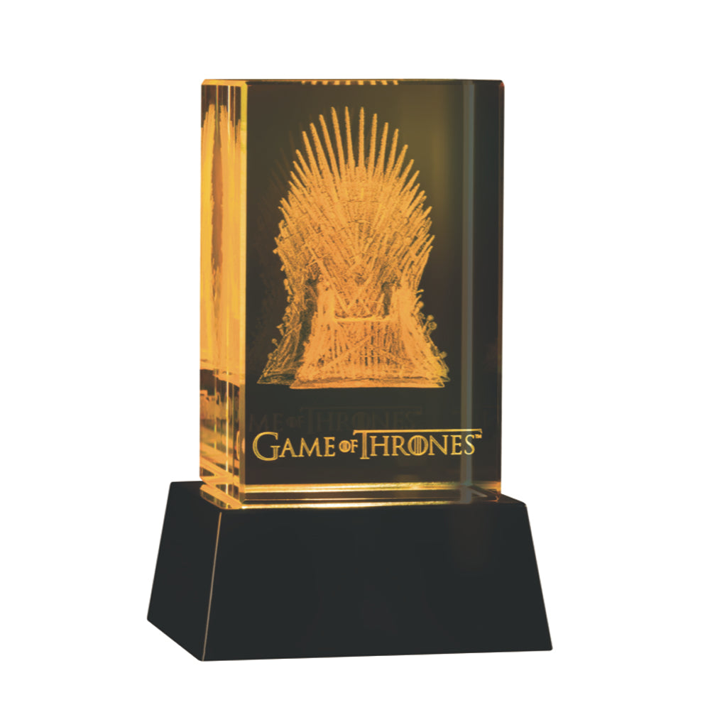 3D Crystal Iron Throne from Game of Thrones