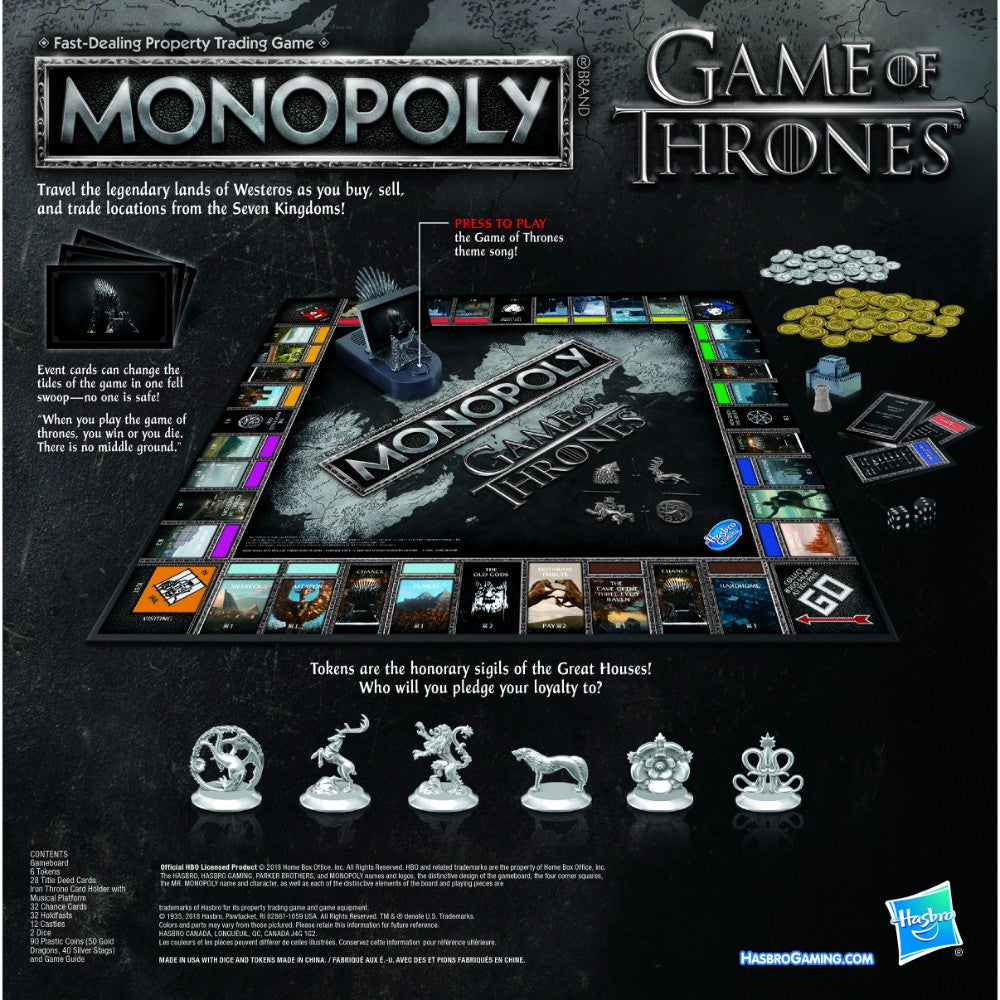 Game of Thrones Monopoly from Hasbro