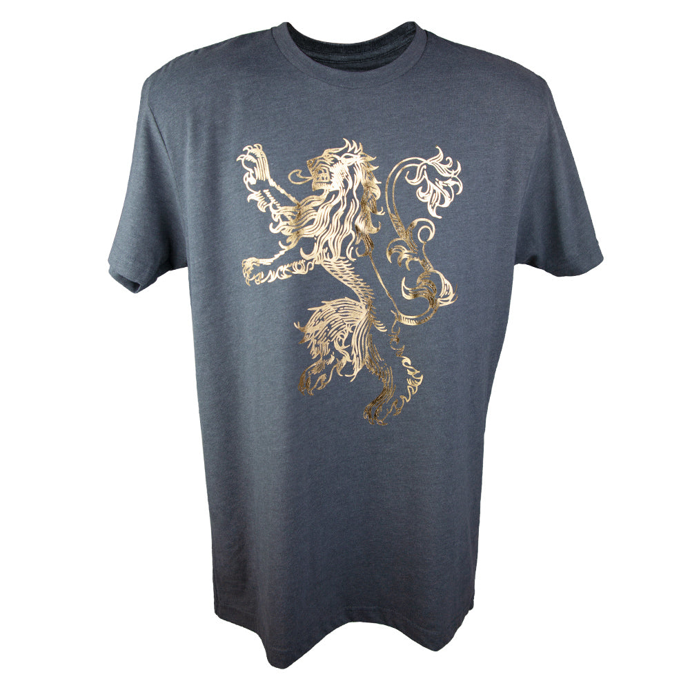 House Lannister Gold Foil T Shirt From Game Of Thrones Hbo Shop