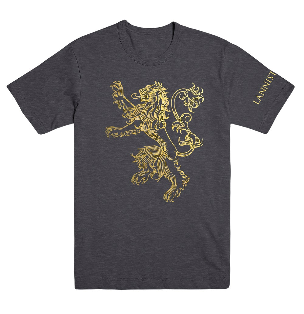 House Lannister Gold Foil T Shirt From Game Of Thrones