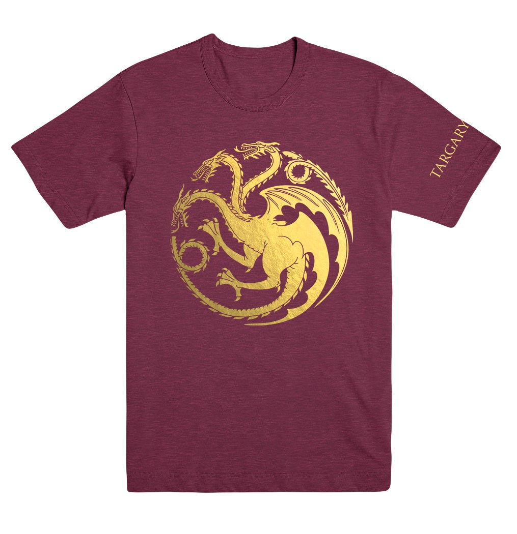 House Targaryen Gold Foil T-Shirt from Game of Thrones