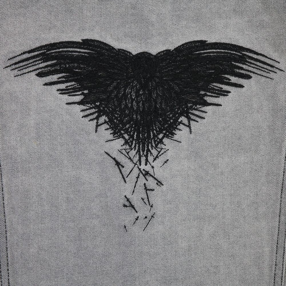 Three-Eyed Raven Denim Jacket from Game of Thrones