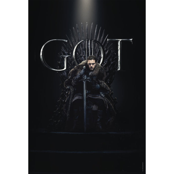Jon Snow on the Throne Extra Large Poster from Game of Thrones