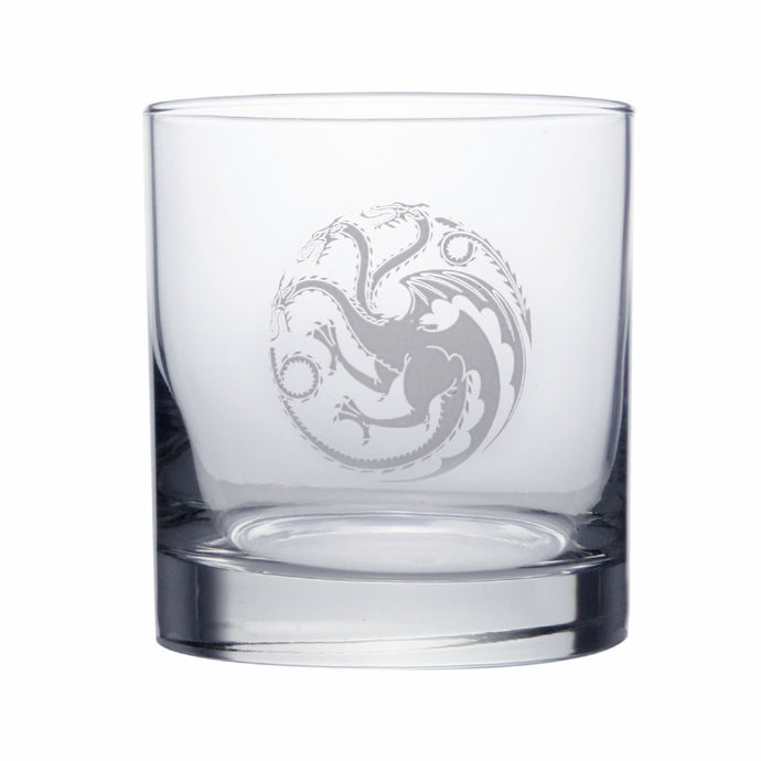 Targaryen Sigil Rocks Glass from Game of Thrones