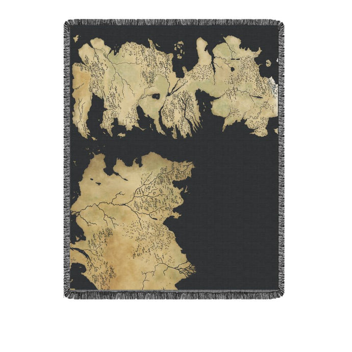 Map of Westeros Tapestry Blanket from Game of Thrones