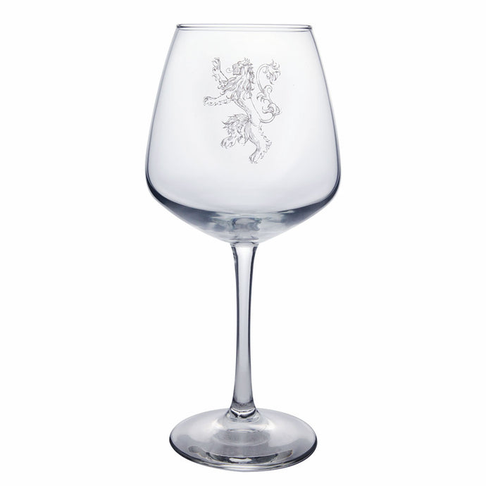 Lannister Sigil Wine Glass from Game of Thrones