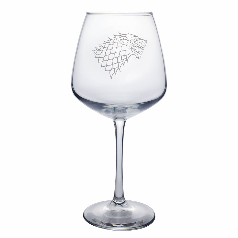Stark Sigil Wine Glass from Game of Thrones