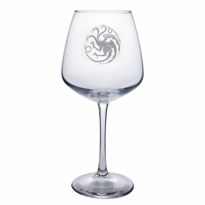 Targaryen Sigil Wine Glass from Game of Thrones