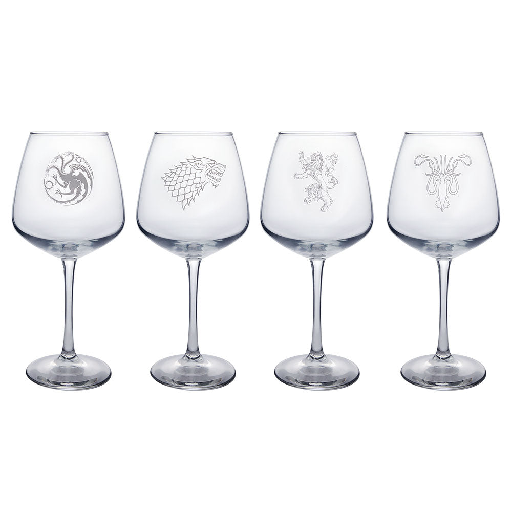 House Sigil Wine Glass Set from Game of Thrones