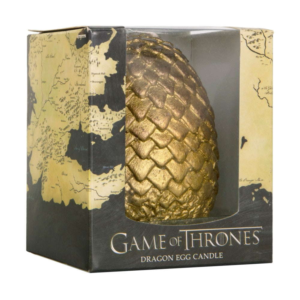 Sculpted Gold Dragon Egg Candle from Game of Thrones