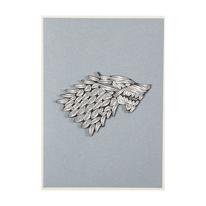 House Stark Sigil Quilled Card from Game of Thrones