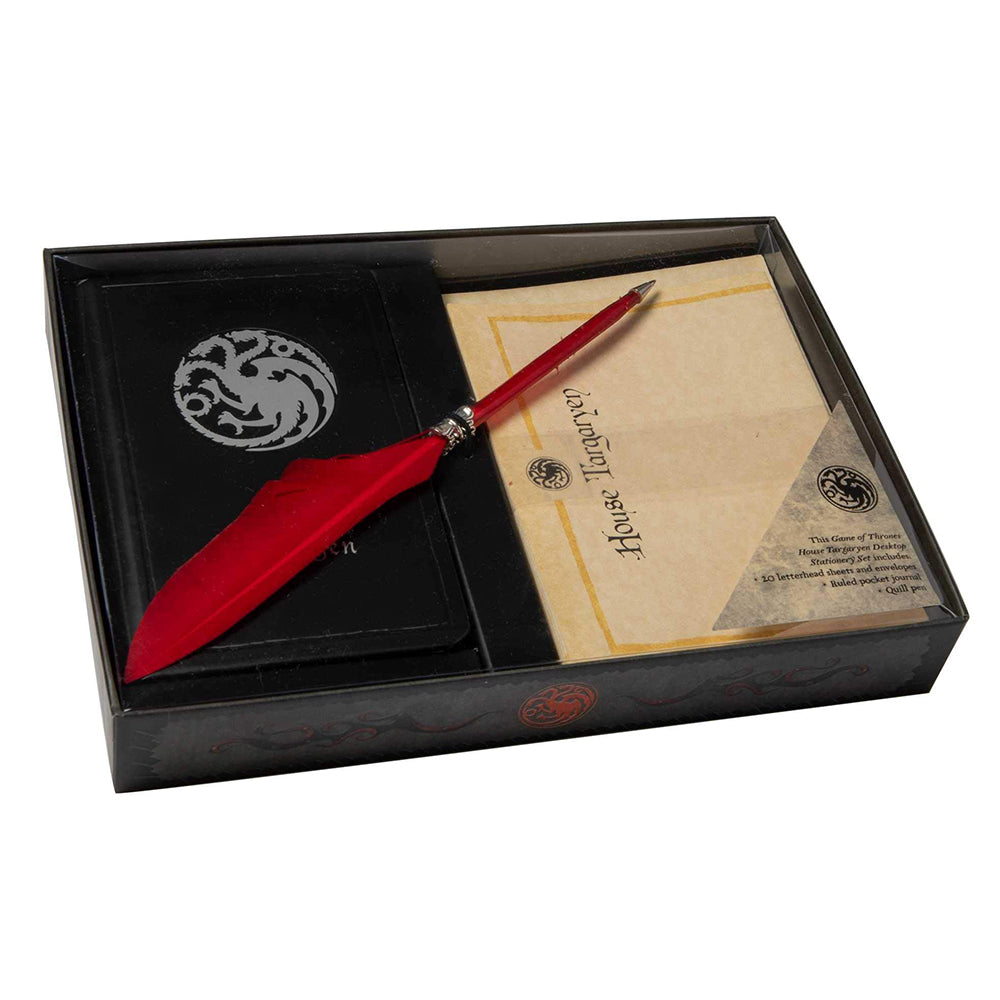 House Targaryen Desktop Stationery Set with Pen from Game of Thrones