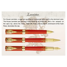 House Lannister Hand-Crafted Montegrappa Pen from Game of Thrones