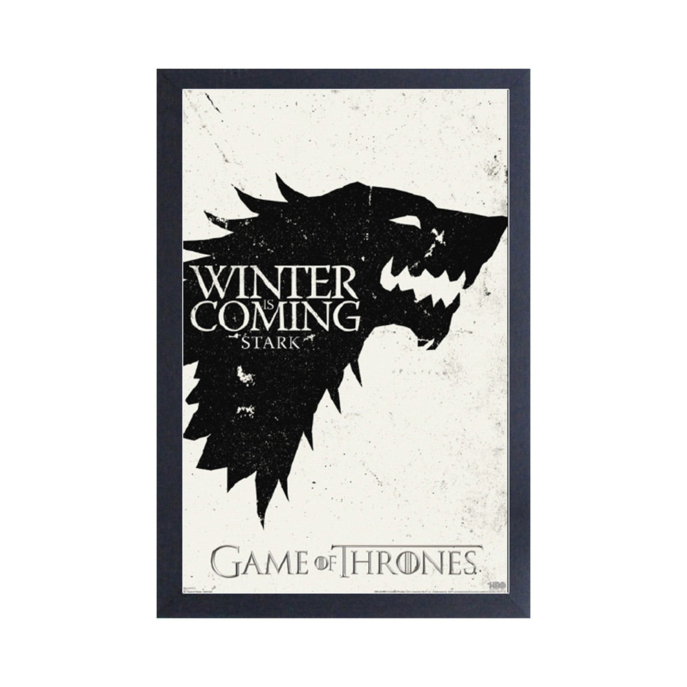 Stark Sigil Frame Print from Game of Thrones