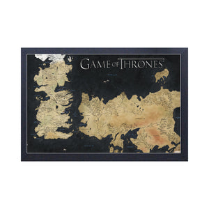 Map of Westeros Frame Print from Game of Thrones