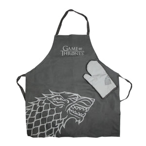 House Stark Apron and Oven Mitt Set from Game of Thrones