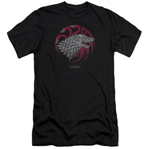 Stark and Targaryen Sigil Black T-shirt from Game of Thrones