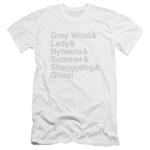 Direwolf Names Unisex T-shirt From Game of Thrones