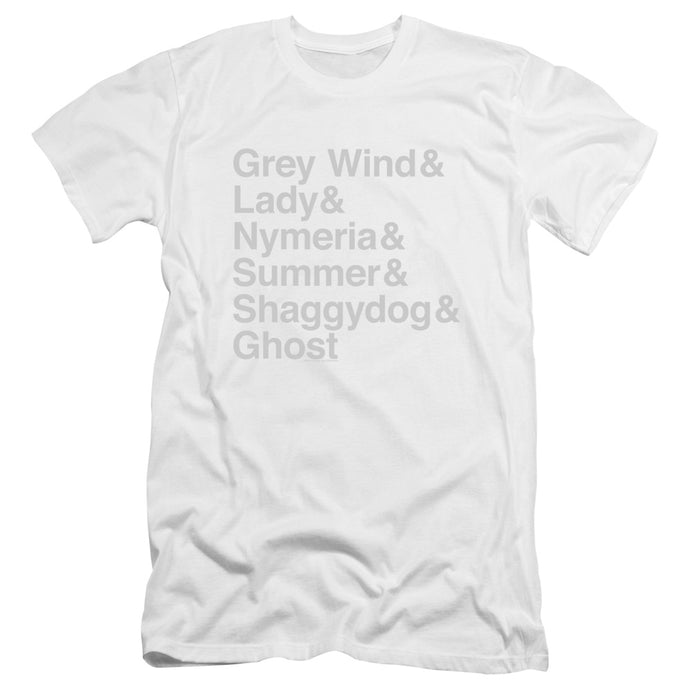 Dire Wolf Names Unisex T-shirt From Game of Thrones