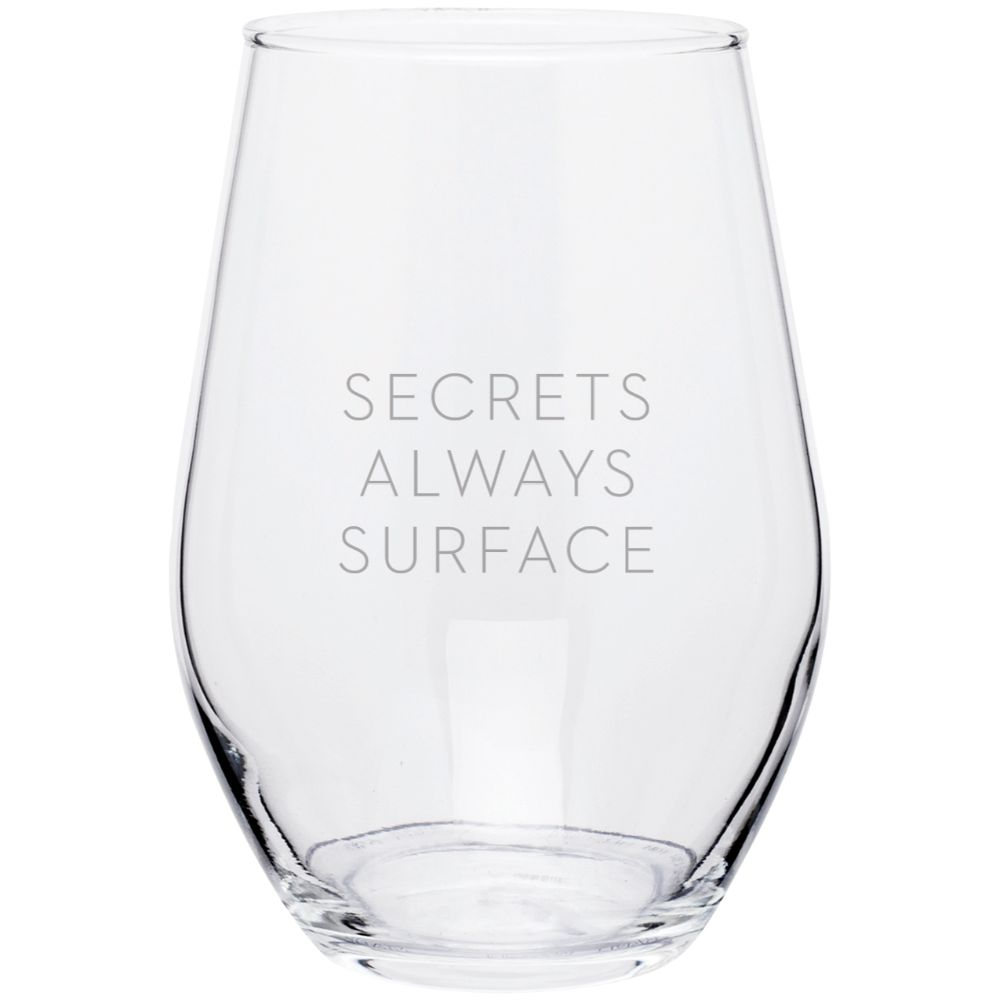 Big Little Lies Secrets Always Surface Stemless Wine Glass