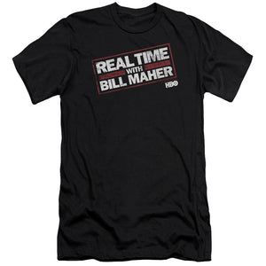 Real Time with Bill Maher Logo Black T-shirt