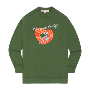 Candy Chipmunk Drop Shoulder Crewneck