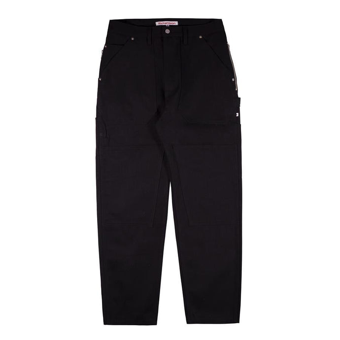 Black Denim Work Pants