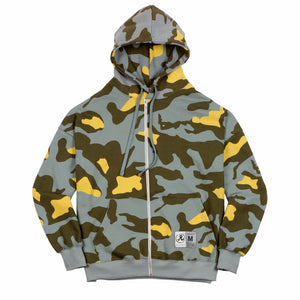 Thermal Drop Shoulder Camo Zip Hoodie