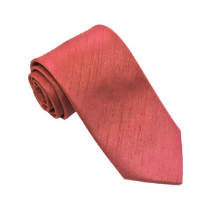 Strawberry Slub Plain Tie by Van Buck