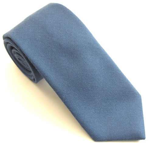 Air Force Blue Plain Wool Tie by Van Buck