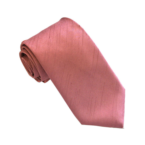 Van Buck Slub Plain Antique Pink Tie
