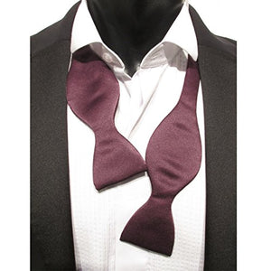 Dark Purple Self-Tied Bow Tie by Van Buck