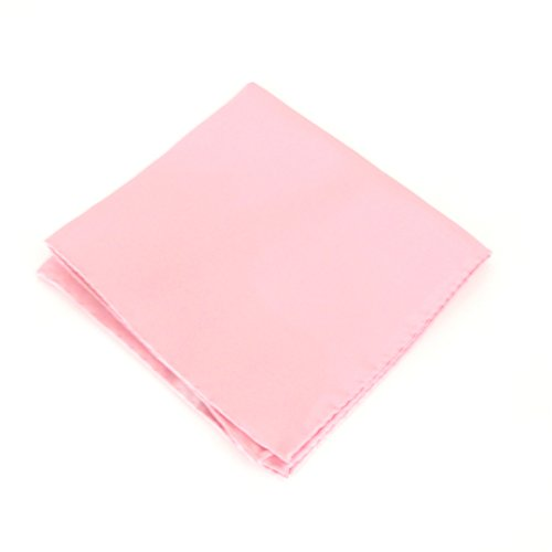 Baby Pink Plain Silk Pocket Square by Van Buck