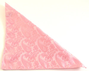 Baby Pink Paisley Pocket Square by Van Buck