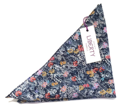 Balearic Cotton Pocket Square Made with Liberty Fabric